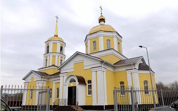 Город Липецк, храм.
