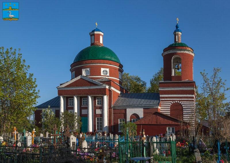 Храм в Лебедяни Липецкой области.